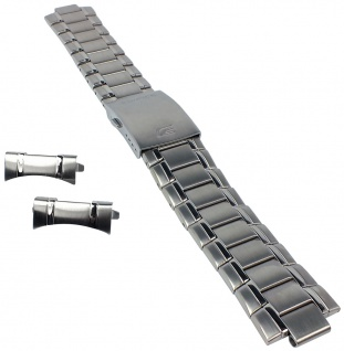 Casio Armband | Uhrenarmband Edelstahl Band Silberfarben für Edifice EF-338D