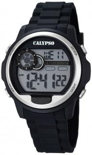 Calypso Herrenarmbanduhr Quarzuhr Kunststoffuhr mit Polyurethanband Alarm-Chronograph digital K5667/1