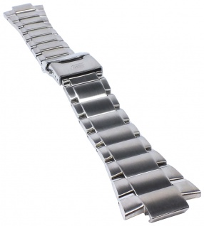 Casio Armband | Uhrenarmband Edelstahl Band Silberfarben für Edifice EFR-500D