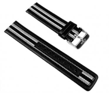 s.Oliver Uhrenarmband Leder/Textil Band 20mm SO-2203-LQ