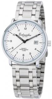 Eichmüller Herrenuhr Ø 38mm Quarz mit Datumsanzeige Edelstahl silberfarben Armbanduhr