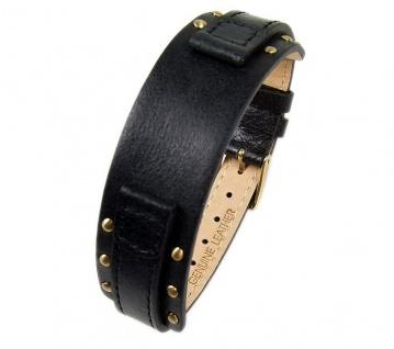 s.Oliver Uhrenarmband Leder Band 12mm schwarz SO-2013-LQ