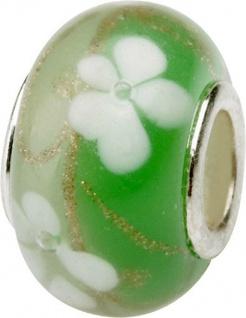 Charlot Borgen Marken Damen Bead Beads Drops Kristallglas Silberkern GPS-58Grün