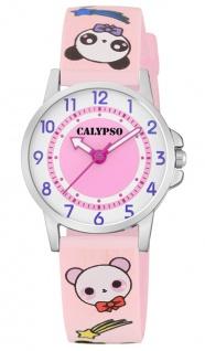 Calypso Kinderuhr analog rosa Armbanduhr Uhr Kunstoffband Quarzuhr M6230 bunte Motive K5775/4 K5775