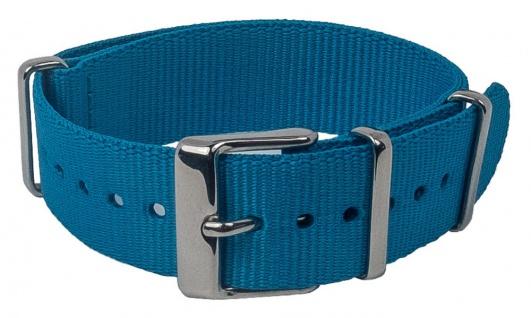 Timex Weekender Nato-Band Uhrenarmband Durchzugsband Textil Band mit Metallschlaufen 18mm blau TW7C07400