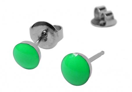 STUDEX Erstohrstecker Ohrschmuck Ohrringe Ø 5mm Edelstahl NEON - Grün - 100 % Steril 30707