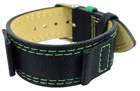 s.Oliver Ersatzband 16mm Leder/ Textil schwarz Unterlageband SO-1898-LQ