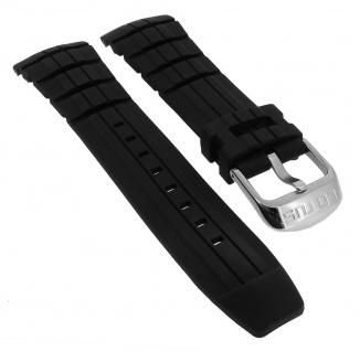 Lotus Multifunktion Ersatzband Kautschuk schwarz Schließe silberfarben 15785 15785/3