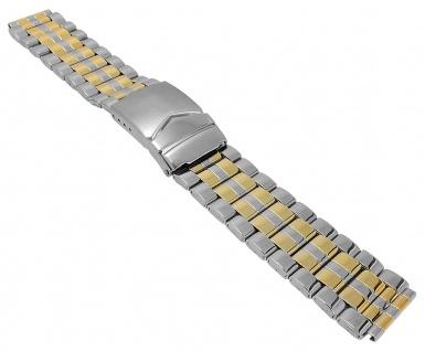 Minott Ersatzband Edelstahl PVD bicolor glänzend Sicherheitsschließe
