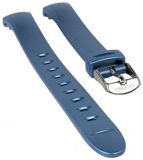 Calypso Watches Uhrenarmband Ersatzband Kunststoff Band blau schimmernd für Modell K5677/5