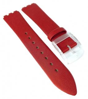 HIRSCH | Uhrenarmband > Textil-, Leder-Mix, rot > seidengläzend > Dornschließe