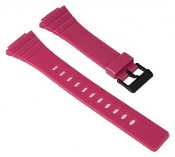 Casio Uhrenarmband Resin Band Pink für W-215H 10435866