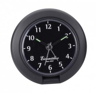 Wecker Reisewecker Alarm Analog Snooze Kunststoff schwarz rund mit Hintergrundbeleuchtung 27830