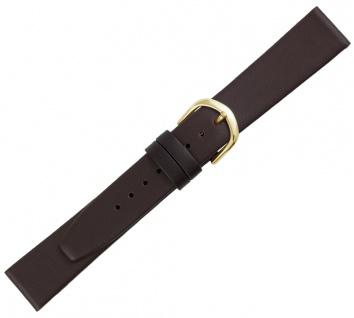 Minott Uhrenarmband XL Länge braun Kalbsleder Verlauf flach glatt