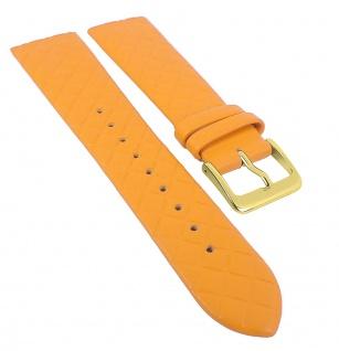 Minott Uhrenarmband Leder mit Rautenmuster zum verschrauben 29776