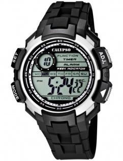 Calypso Digitale Herrenuhr, Zweite Zeitzone, Alarm, Stoppuhr, K5595