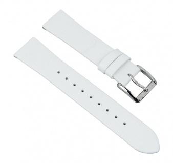 Uhrenarmband Leder Band Damenband weiß passend zu Hugo Boss mit 18mm Anstoß 28342S