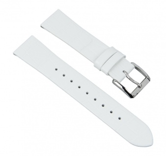 Uhrenarmband Leder Band weiß passend zu Hugo Boss mit 18mm Anstoß