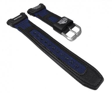 Casio Uhrenarmband Textil Band Blau / schwarz für PRG-20 PRG-240B