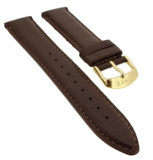 Timex Easy Reader Indiglo Uhrenarmband 20mm Ersatzband Leder braun mit versiegelter Kante TW2P75800