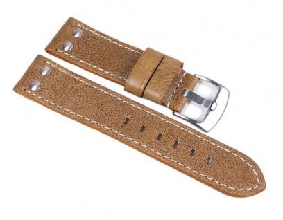 Minott Uhrenarmband Vintage Look Leder Band Hellbraun 24028