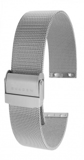 Skagen Ersatzband 18mm Uhrenarmband Edelstahl Milanaise Band silberfarben 355LGSC 355LSS 358LSS