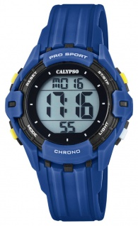 Calypso Kinderarmbanduhr Quarz Digital Kunststoff dunkelblau mit 2. Zeitzone Alarm Stoppfunktion K5740/4