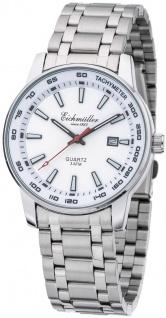 Herren Armbanduhr | Quarz mit Datum | Edelstahlband > silberfarben | Ziffernblatt > weiß | 36399