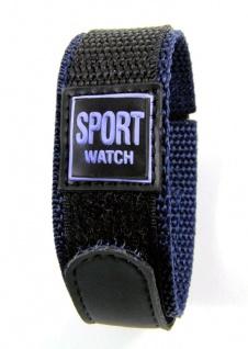 Minott Uhrenarmband Sport-Watch Loop schwarz/Blau 20mm - Vorschau 3