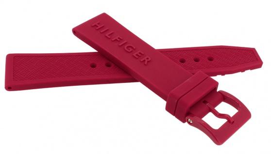 Tommy Hilfiger Ersatzband 20mm Uhrenarmband 679302233 Silikon Band rot 1791323