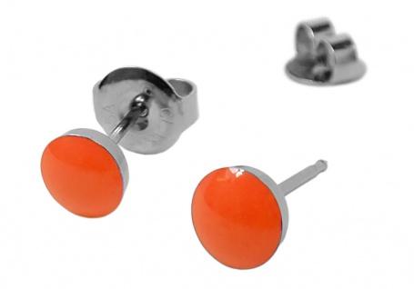 STUDEX Erstohrstecker Ohrschmuck Ohrringe Ø 5mm Edelstahl NEON - Orange - 100 % Steril 30705