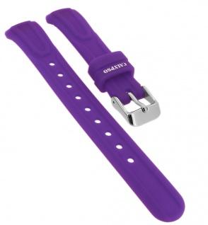 Calypso Ersatzband aus Silikon in lila mit Schließe silberfarben Spezial Anstoß => K6070/4