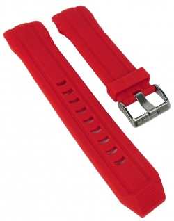 Calypso Ersatzband rot Kunststoff Dornschließe silbern Band Spezial Anstoß K5697/2 K5697