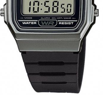 Casio Collection F-91WM-1BEF digital Uhr mit Automatischer Kalender / Resinband schwarz - Vorschau 2