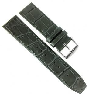 Jacques Lemans Sydney Ersatzband 22mm Leder grau Band Kroko-Optik 1-1542 1-1542L
