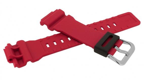 Casio G- Shock Ersatzband rot Resin Band Schließe silberfarben GA-800-4A => GA-800 - Vorschau 2