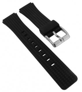 Calypso Ersatzband aus Silikon in schwarz mit Schließe silberfarben Spezial Anstoß K5743/6