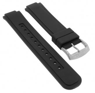 Citizen Eco Drive Promaster Uhrenarmband Silikon Band schwarz Schließe silbern BN0190