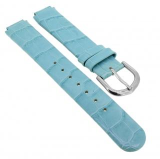 Bruno Banani Ersatzband 12mm aus Leder in blau Kroko Optik Schließe silbern CC3889