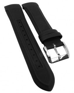 Hugo Boss Ersatzband 22mm runder Anstoß Kunststoff schwarz 1512803 1512804