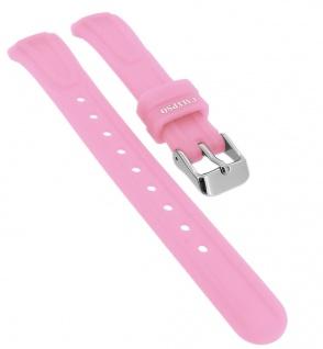 Calypso Ersatzband aus Silikon in rosa mit Schließe silberfarben Spezial Anstoß => K6070/1