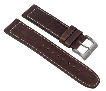 Uhrenarmband Leder Band braun 22mm passend zu Citizen Eco Drive Sports Chronograph CA4210-16E 28556