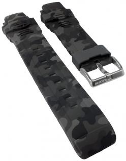 Calypso Watches Uhrenarmband Kunststoff Band grau/schwarz Camouflage K5723/3