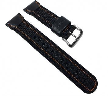 Casio Uhrenarmband Textil / Leder Band schwarz für AMW-103B-1 AMW-103B AMW-103