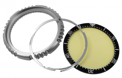 Citizen Promaster Automatik Lünette Titan titanfarben schwarzer Ring NY0100-50ME