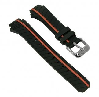 Lotus Watches Ersatzband Uhrenarmband Kunststoff Band schwarz/orange 18106/4 18106 für Damenuhren