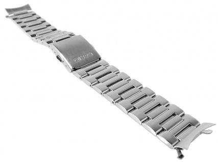 Casio Armband | Uhrenarmband Edelstahl Band Silberfarben für Collection BEM-305D