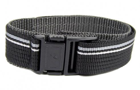 Casio 20mm Textil Klettband Durchzugsband schwarz-Grau Ersatzband BG-3003V-1 BG-3003V