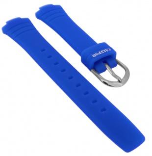Calypso Ersatzband Kautschuk blau Spezial Anstoß Schließe silberfarben K5758 K5758/5