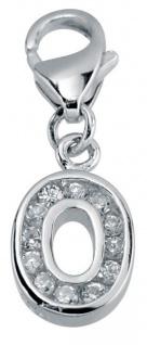 Minott Charms Anhänger Buchstabe O mit Zirkonia 925/-Silber CMM105-O